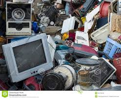 Waste Old Technology Dump Stock Photo Image Of Futuristic 46720542