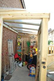 How To Build A Lean To Shed Plans by Lean To Shed Plans With Roof Sheeting Installed The Fascia Trim