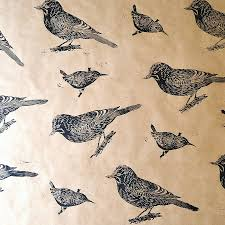 bird wrapping paper how to make your own diy printed wrapping paper with rolling pins