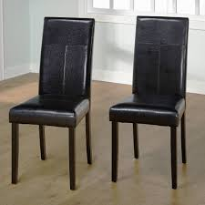 Brown Leather Dining Chairs With Nailheads Faux Leather Parson Dining Chair Set Of 2 Walmart Com