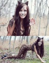 Girls Cheetah Halloween Costume Animal Print Pack Temporary Metallic Tattoo Fashiontats