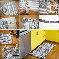 Diy Kitchen Rug How To Diy Woven Rag Rug With Cardboard Fab Diy