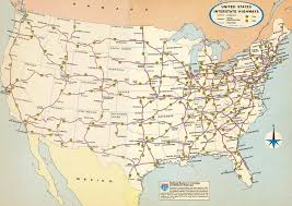 Interstate Map Of United States by Us Interstate Map Rocky Shores Resort Preinterstate Us Highway
