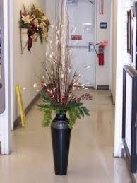 Flower Arrangements For Tall Vases Tall Metal Floor Vases Foter