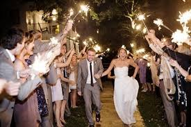 Sparklers Bride Smiling Sparklers