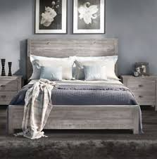bed frame queen with headboard platform rustic vintage distressed
