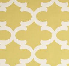 Yellow Drapery Quatrefoil Lattice Curtain Panels Yellow And Ivory Trellis Drapery