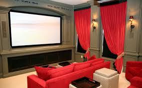 Home Theater Room Decor Design by Interior Spacipious Home Theater Room Interior Design With Red
