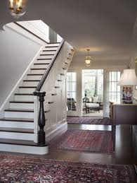 traditional staircases love love the rugs the bannister and the porch traditional