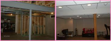 pleasurable finished basement before and after woods systems inc
