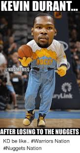 kevin durant rocky onbamemes after losing to the nuggets kd be
