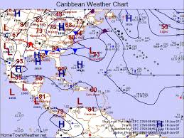 caribbean weather map weather charts and maps