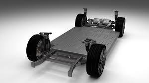 Tesla Interior Model S Tesla Model S Chassis 3d Cgtrader