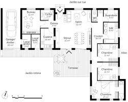 plan maison plain pied 6 chambres plan de maison sur pieds plein 6 chambres maison moderne