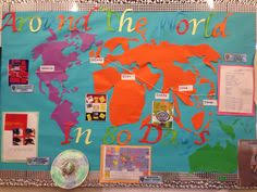 around the world in 80 days students classroom displays and