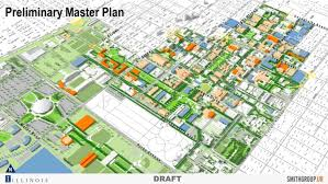University Of Illinois Map Ui Draft Plan Envisions Campus For Next Decade The Daily Illini