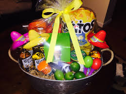 mexican gift basket cinco de mayo basket patron six corona with somberos on maracas