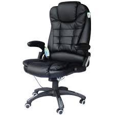 cuir de bureau fauteuil de bureau cuir noir massant chauffant achat prix fnac