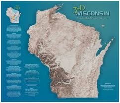 topo maps wisconsin wisconsin geological history survey 3 d wisconsin map