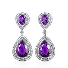 amethyst drop earrings amethyst earrings from encore dt