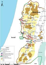 West Bank Map West Bank U2013 Two State Security