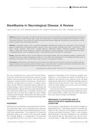 alexithymia in neurological disease a review pdf download available