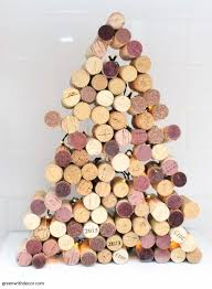 green with decor how to make a cork christmas tree