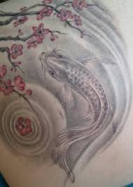 cherry blossom and koi tattoo google search tattoos and pics
