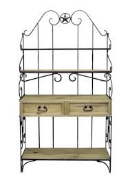 Bakers Rack Wrought Iron Bakers Rack Great Western Furniture Company