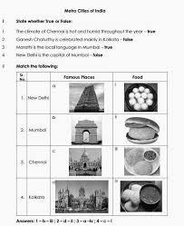 stars of pis ahmedabad std iii evs metro cities of india worksheet