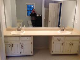 two tone bathroom cabinets design images ideas gallery