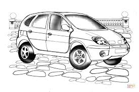 renault scenic rx coloring free printable coloring pages