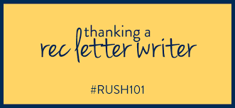 how to thank the alumnae writing your letters of recommendation