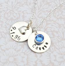 wedding gift necklace personalized sted necklace wedding bridal gift