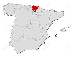 The Map Of Spain by Political Map Of Spain With The Several Regions Where Basque