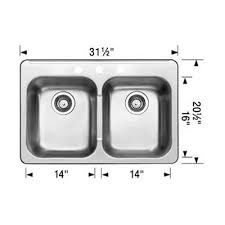 BLANCO Canada  In Upgrade Double Bowl Dropin Stainless - Blanco kitchen sinks canada