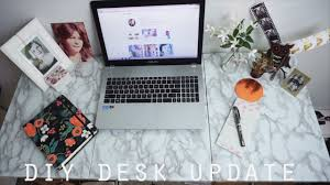 Contact Paper Desk Makeover Diy Marble Rose Gold Desk Youtube
