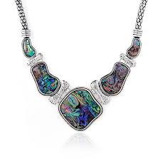 necklace chokers images Unique abalone shell chokers necklaces for women geometric large jpg