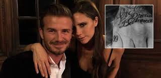 david beckham gets a new tattoo to mark wedding anniversary to