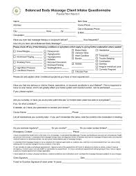 27 images of spa questionnaire template infovia net
