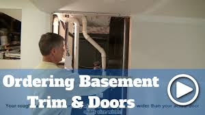 how to order basement doors and trim for basement finishing
