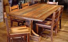 dining table rustic round dining table set for 6 rustic round
