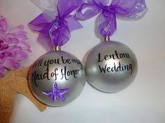 will you be my bridesmaid ornaments painted personalized