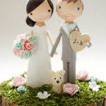 dog wedding cake toppers wedding cake topper with dog wedding cake topper with dog 19