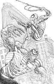 15 pics of spider man fighting venom coloring pages spider man