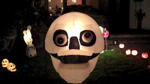 my airblown inflatable and halloween decorations display 2012