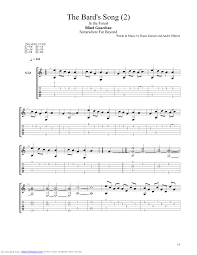 the bards song guitar pro tab by blind guardian musicnoteslib com