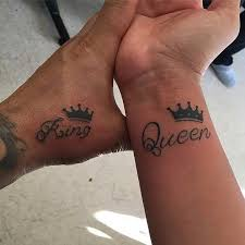 tattoo of queen and king 51 king and queen tattoos for couples king queen tattoo queen