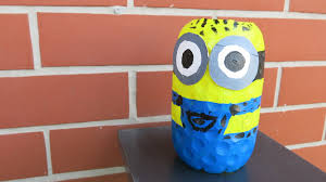 diy plastic bottle minion how to make a minion from recycled fun