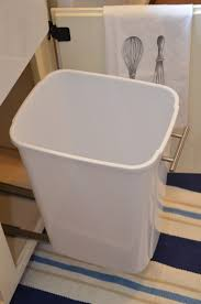 garbage can under the sink iron twine under sink storage diy slide out trash can diy